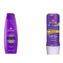 Kit Aussie Shampoo Aussome - 400ml E Máscara Shine 236ml