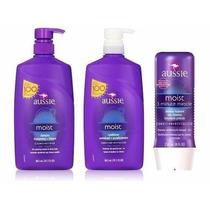 Kit Aussie Moist Shampoo Cond 865ml +creme 3 Minute 236ml