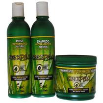 Kit Crece Pelo Shampoo Condicionador E Máscara Frete Grátis
