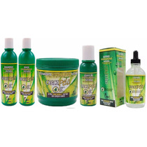 Kit Crece Pelo Shampoo+condicionador+mascara+leave-in+gotero