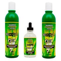 2 Shampoo + 1 Gotero Crecepelo Original Pronta Entrega Jaque