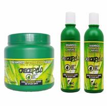 Kit Crecepelo Mascara 794g + 2 Shampoo Preço Imbátivel