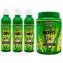 Lote Atacado 3 Shampoos 370ml + 1 Mascara Crece Pelo 1700g