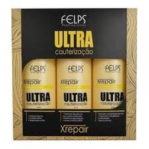 Felps Profissional Kit Xrepair Ultra Cauterização 3x500ml