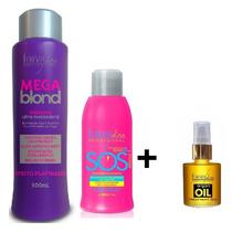 Forever Liss Mega Blond + Sos + Oléo De Argan