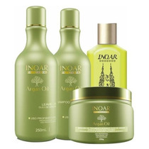 Inoar Kit Home Care Argan Oil System - 4 Produtos Inoar Pr