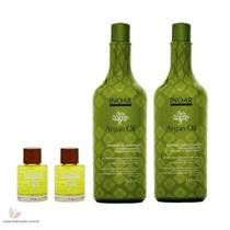 Kit Argan Oil Shampoo 1lt. + Condicionador 1lt + 2 Óleos