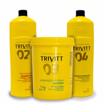 Hidratação Capilar Trivitt Profissional ( 3 Produtos )
