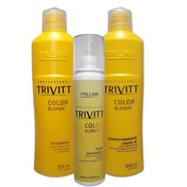 Itallian Hair Tech Trivitt Color Blonde Kit Trio