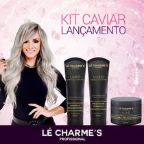 Kit Caviar Shampoo, Protetor Térmico E Máscara Intensy Color