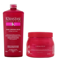Kit- Shampoo Chroma Riche 1l + Máscara Chroma Riche 500g