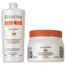 Máscara Masquintense Finos 500g + Shampoo Bain Satin 2 1l