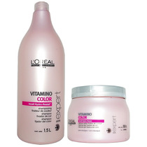Loreal Vitamino Color Shampoo 1500ml + Mascara 500ml