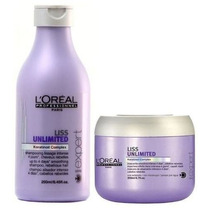 Kit Loreal Liss Unlimited Shampoo 250ml E Máscara 200ml
