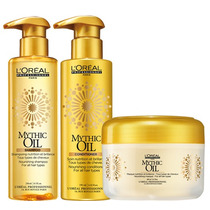 Kit Loreal -shampoo+condicionador+máscara Mythic Oil 200