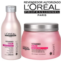 Kit Loréal Vitamino Color ( Shampoo 250ml + Máscara 500gr)