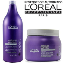 Kit Loréal Absolut Control (shampoo 1500ml + Máscara 500gr.)