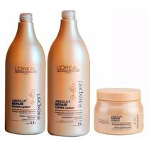 Kit Loréal Absolut Repair -shampoo / Condicionador / Mascara