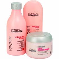 Loreal Vitamino Color Shampoo 250ml + Cond 150ml + Masc 200g