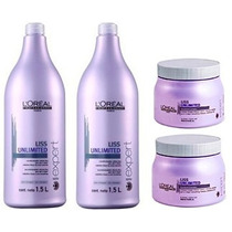 Loréal Liss Unlimited 02 Shampoo 1,5l + 02 Máscara 500g