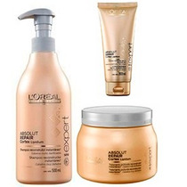Shampoo Absolut Repair 500ml Loréal + Máscara 500g + Thermo