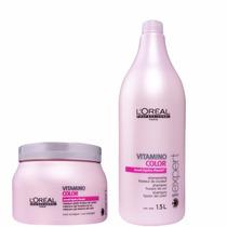 Kit Loreal Vitamino Color Shampoo 1,5l + Mascara 500g