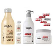 Loreal Kit Fiberceutic Mascara 500g+sh Absolut +2ampolas+apl