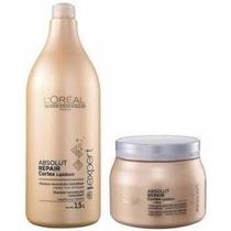 Kit Loreal Absolut Repair Cortex Shampoo 1,5l + Mascara 500g