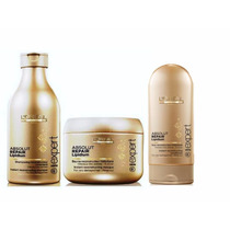 Kit Loréal Absolut Repair-shampoo+condicionador+máscara