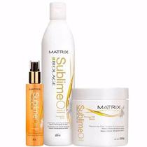 Matrix Biolage Sublime Oil Kit Escova Brilho Sublime (3 Prod