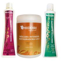 Midori Kit Shampoo Silicone + Condicionador Impacto + Sos 1k