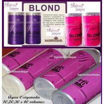 Kit 4 Po Descolorante Magnific Hair + 4 Agua Oxigenada