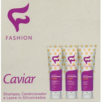 Shampoo, Condicionador E Leave - In Caviar Kit Com 12 Un.