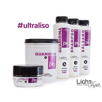Kit Relaxamento Alisamento Guanidina Light Hair 5 Produtos