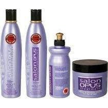 Kit Shampoo Condicionador Máscara Creme Violet Desamarelador