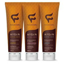 Kit Com 12 Argan Active Shampoo, Condicionador E Leave - In
