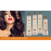Cauterização Nutri Banho De Verniz Keratin 4 Produtos
