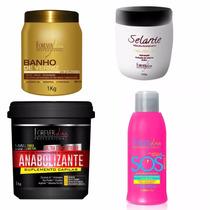 Banho De Verniz +anabol Capilar +sos +selante - Forever Liss