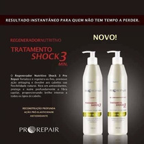 Kit Shampoo E Regenerador Shock3 Oleo De Argan - Nutrahair