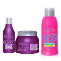Shampoo Bluebery + Máscara Matizadora + Sos Forever Liss