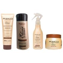 Miskito Combo Shampoo Reconstrutor Defrizante Máscara Kaedo