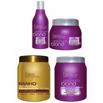 Kit Platinum Blond Matizador + Banho De Verniz Hidratação