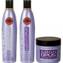 Kit Shampoo, Condicionador, Máscara Desamarelador Salon Opus