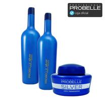 Shampoo, Condicionador 1 L E Máscara 250g Silver ! Probelle