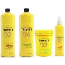 Trivitt Profissional Kit De Hidratação C/ 4 Produtos