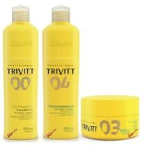 Kit Manutenção Trivitt Com 3 Produtos - Sh + Cond + Másc300g