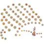 500 Cartelas Piercing Adesivos Para Cães Gatos Frete Grátis