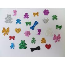 Kit 100 Lacinhos Pet Shop Adesivos Eva Para Cachorro E Gato