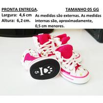Sapato Tênis Tela Para Cachorro Rosa Pink Tamanho 05 Gg
