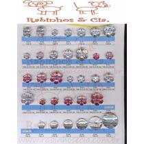 100 Botões Chatons Sortidos Ou Modelo Único Vários Formatos